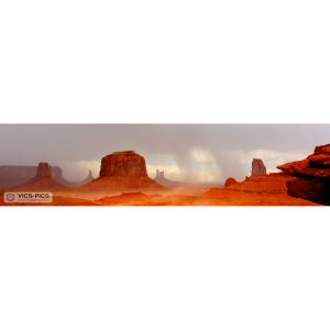 Sandstorm In Monument Valley